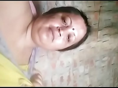 Indian horny aunty sucking boobs